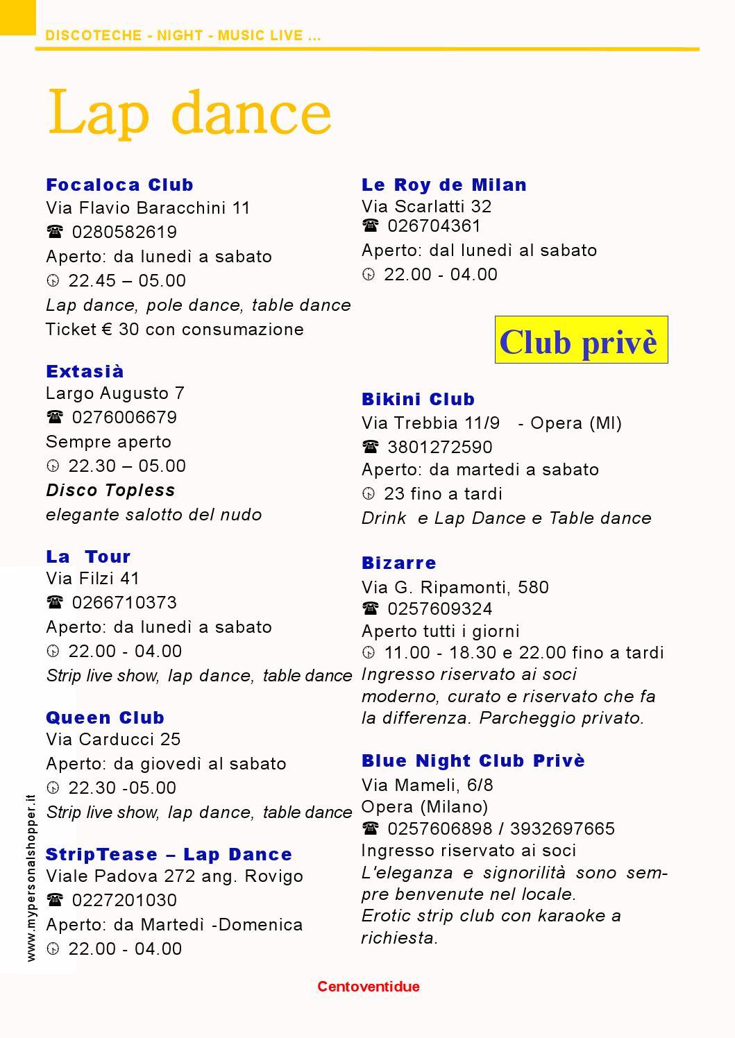 La Gare Club Prive Milan Strip