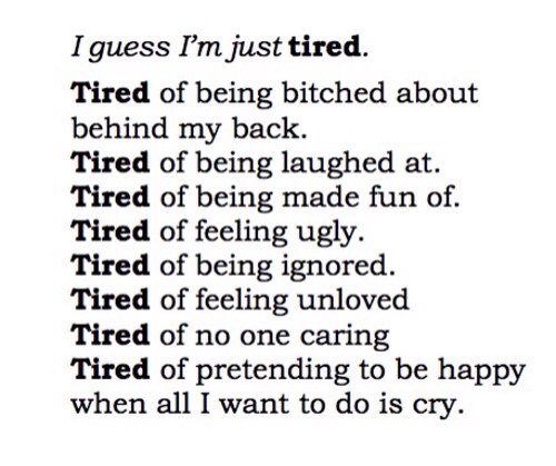 Being Tired Disappointed? Of