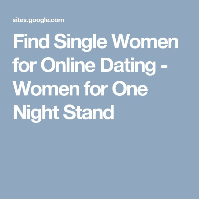 Stand Singles Promiscuity Dating One-night