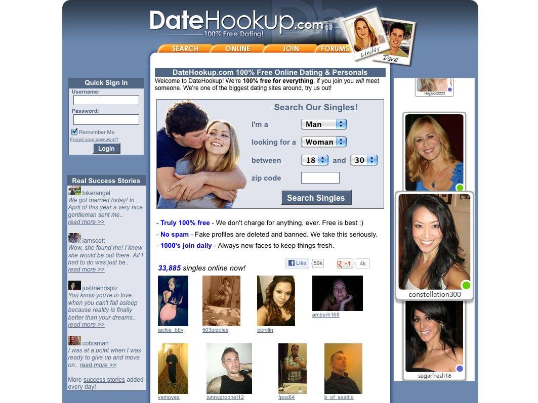 Dating Websites Numbers